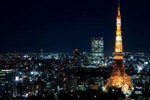 Tháp Tokyo về đêm