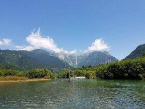 Hồ trên núi Apls Nhật Bản 2